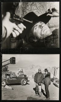 8g0167 JOE KIDD 7 7.5x9.5 stills 1972 great images of Clint Eastwood, one with John Sturges candid!