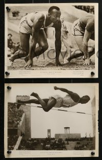 8g0193 KINGS OF THE OLYMPICS 6 8x10 stills 1948 Jesse Owens, partly from Reifenstahl's Olympia!