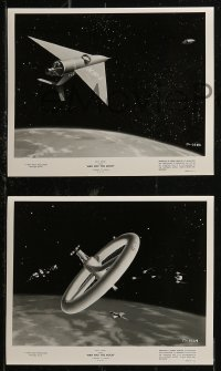 8g0196 MAN & THE MOON 6 TV 8x10 stills 1955 Disney, cool images of outer space!