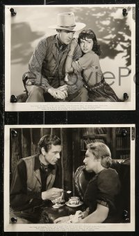 8g0199 NORTH WEST MOUNTED POLICE 6 8x10 stills 1940 Cecil B. DeMille, Gary Cooper, Carroll & Goddard!