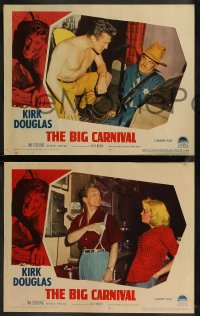 8g1032 ACE IN THE HOLE 3 LCs 1951 Billy Wilder classic, Kirk Douglas, Jan Sterling, The Big Carnival!