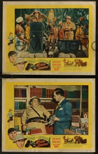 8g1033 AFRICA SCREAMS 3 LCs R1953 great images of Bud Abbott & Lou Costello in jungle with natives!