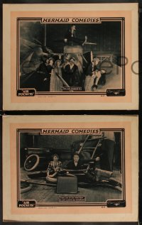 8g1034 AIR POCKETS 3 LCs 1924 Jack White's Mermaid Comedies, wacky inventor Lige Conley, ultra rare!