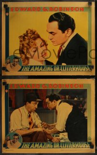 8g1037 AMAZING DR. CLITTERHOUSE 3 LCs 1938 great images of Edward G. Robinson & Claire Trevor!