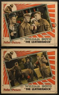 8g1001 LEATHERNECK 4 LCs 1929 best friends & American soldiers William Boyd & Alan Hale, ultra rare!