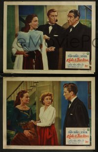 8g1002 LETTER TO THREE WIVES 4 LCs 1949 images of Jeanne Crain, Ann Sothern & young Kirk Douglas!