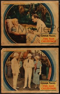 8g1006 MAN CALLED BACK 4 LCs 1932 great images of Conrad Nagel romancing pretty blonde Doris Kenyon!