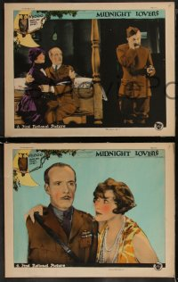 8g1008 MIDNIGHT LOVERS 4 LCs 1926 WWI flyer Lewis Stone's wife Anna Q. Nilsson strays but returns!