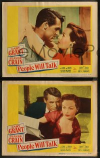 8g1013 PEOPLE WILL TALK 4 LCs 1951 Cary Grant & Jeanne Crain in the picture that takes a look at life!