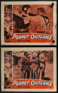 8g1016 PLANET OUTLAWS 4 LCs 1953 Buck Rogers serial repackaged as a feature with new footage!