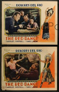 8g1018 RED DANCE 4 LCs 1928 Raoul Walsh, great images of sexy Dolores Del Rio & Charles Farrell!