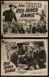 8g1019 RED RIVER RANGE 4 LCs R1953 great images of western cowboy John Wayne and the 3 Mesquiteers!