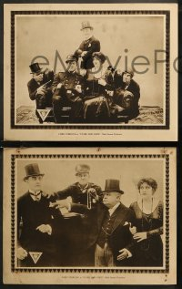 8g1022 STARS & BARS 4 LCs 1917 Mack Sennett, Ford Sterling, Harry Gribbon, ultra rare!