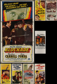 8h0428 LOT OF 8 FOLDED THREE-SHEETS 1940s-1970s great images from a variety of movies!