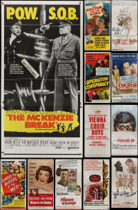 8h0425 LOT OF 12 FOLDED THREE-SHEETS 1940s-1960s great images from a variety of different movies!