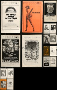 8h0233 LOT OF 25 UNCUT PRESSBOOKS 1970s advertising a variety of different movies!