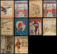 8h0219 LOT OF 10 WWI 11X14 SHEET MUSIC 1910s a variety of great patriotic songs!