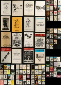 8h0411 LOT OF 109 NON-BROADWAY PLAYBILLS 1960s-1980s from a variety of different stage shows!