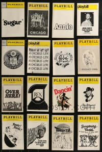 8h0412 LOT OF 37 1970S-90S PLAYBILLS 1970s-1990s from a variety of different stage shows!