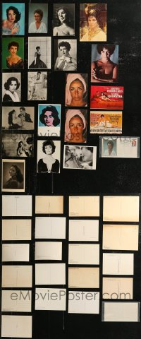 8h0408 LOT OF 21 ELIZABETH TAYLOR POSTCARDS AND FIRST DAY COVER 1960s-1990s portraits of the star!