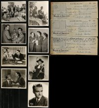 8h0204 LOT OF 26 RED SKELTON TELEGRAMS, CHECKS, LETTERS, AND STILLS 1930s-1950s cool content!