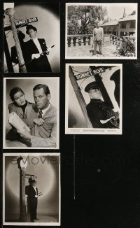 8h0420 LOT OF 5 8X10 REPRO PHOTOS FROM SUNSET BOULEVARD 1970s William Holden, Erich Von Stroheim!