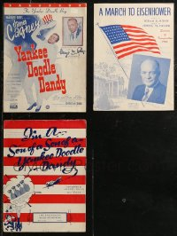 8h0222 LOT OF 3 PATRIOTIC SHEET MUSIC 1940s-1950s Yankee Doodle Dandy, March to Eisenhower!