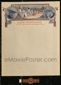 8h0210 LOT OF 1 KEN MAYNARD HERALD AND 1 CIGAR LABEL 1920s the First National Western Star!