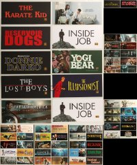 8h0223 LOT OF 62 6X13 MYLAR MARQUEES 2000s-2010s title images from a variety of different movies!