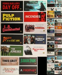 8h0225 LOT OF 54 6X13 MYLAR MARQUEES 2000s-2010s title images from a variety of different movies!