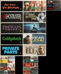 8h0224 LOT OF 56 6X13 MYLAR MARQUEES 2000s-2010s title images from a variety of different movies!