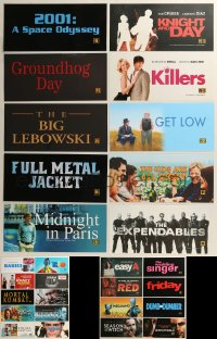 8h0226 LOT OF 48 6X13 MYLAR MARQUEES 2000s-2010s title images from a variety of different movies!