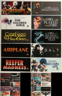 8h0228 LOT OF 39 6X13 MYLAR MARQUEES 2000s-2010s title images from a variety of different movies!