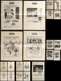 8h0236 LOT OF 21 UNCUT PRESSBOOKS 1960s-1970s advertising for a variety of different movies!