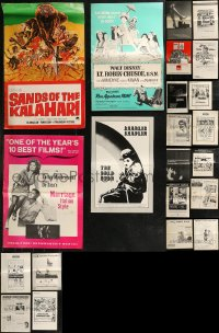 8h0235 LOT OF 22 UNCUT PRESSBOOKS 1960s-1970s advertising for a variety of different movies!