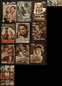 8h0215 LOT OF 21 GERMAN PROGRAMS 1930s-1960s great images from a variety of different movies!