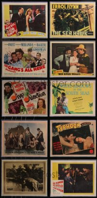 8h0214 LOT OF 10 REPRODUCTION LOBBY CARDS IN SLEEVES 1980s Marilyn Monroe with Marx Bros & more!