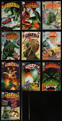 8h0241 LOT OF 11 GODZILLA COMIC BOOKS 1980s-1990s King of the Monsters, Dark Horse Comics!