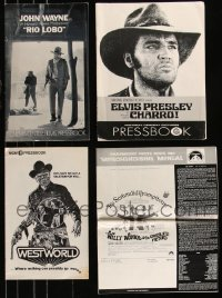 8h0239 LOT OF 4 CUT PRESSBOOKS 1969-1973 Rio Lobo, Charro, Westworld & Willy Wonka!