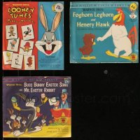 8h0406 LOT OF 3 WARNER BROS. LITTLE GOLDEN 78 RPM RECORDS 1950s Bugs Bunny & Looney Tunes!