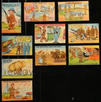 8h0410 LOT OF 14 MILITARY COMIC POSTCARD SETS 1940s great cartoon art, containing 140 cards!