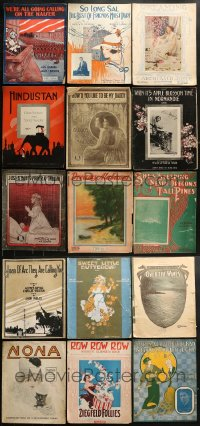 8h0217 LOT OF 15 10.5X13.5 SHEET MUSIC 1910s a variety of great songs + cool cover art!