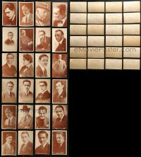 8h0407 LOT OF 24 SILENT MALE STAR POSTCARDS 1920s great head & shoulders portraits!