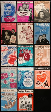 8h0218 LOT OF 14 1940S MOVIE SHEET MUSIC 1940s great songs from a variety of different movies!