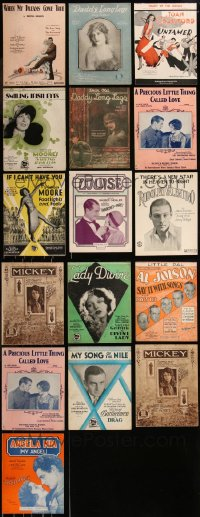 8h0216 LOT OF 16 1920S SHEET MUSIC 1920s great songs from a variety of different movies!
