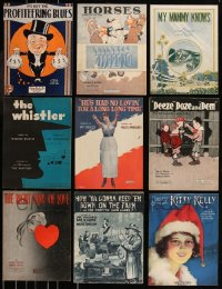 8h0220 LOT OF 9 1920S SHEET MUSIC 1920s a variety of great songs, with cool cover art!