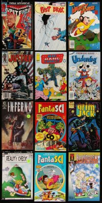 8h0240 LOT OF 12 COMIC BOOKS 1980s-1990s Mighty Mouse, Underdog, FantaSci, Marvel & more!