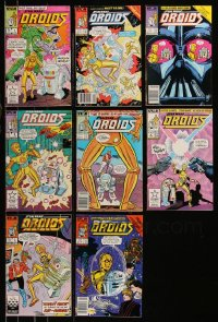 8h0242 LOT OF 8 STAR WARS DROIDS COMIC BOOKS 1986-1987 stories featuring C-3PO & R2-D2, #1-8