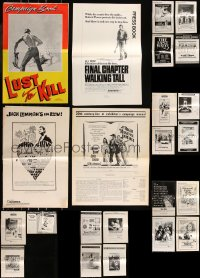 8h0231 LOT OF 27 UNCUT PRESSBOOKS 1960s-1970s advertising for a variety of different movies!