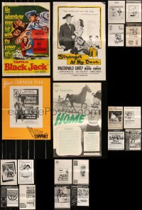 8h0230 LOT OF 28 UNCUT PRESSBOOKS 1950s-1970s advertising for a variety of different movies!